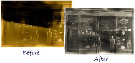old photos repaired professionally